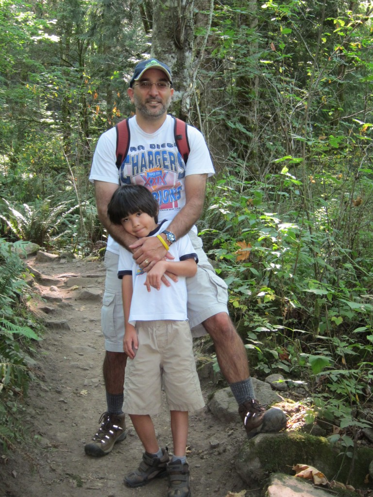 Darius and dad hiking