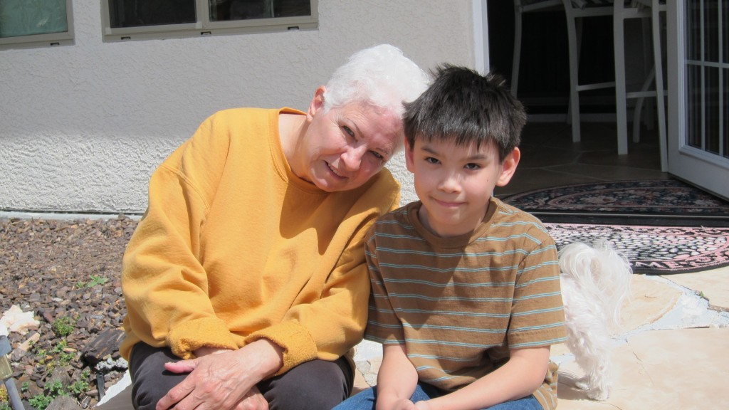 Darius and Grandma - Apr 2012