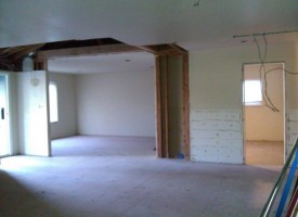 View to Living Rm – Framework gone