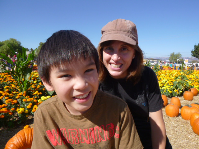 Darius and Steph at pumpkin patch
