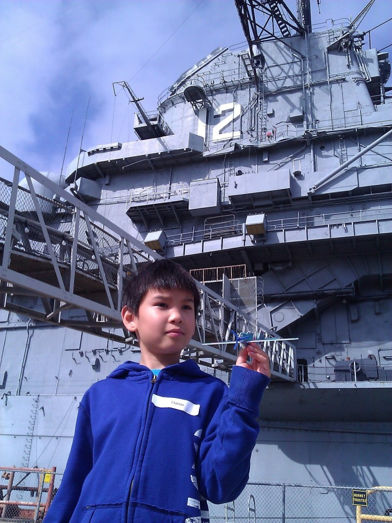 Darius on the USS Hornet