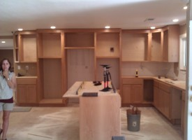 Kitchen remodeling – side view